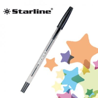 (20) SCATOLA 50 PENNA SFERA NERO P. FINE 0.7MM STARLINE