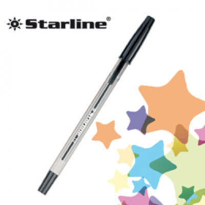 (20) SCATOLA 50 PENNA SFERA NERO P.MEDIA 1.0MM STARLINE