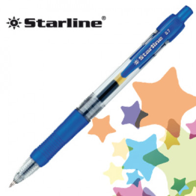 (12) PENNA SFERA SCATTO INK GEL BLU 0.7MM Fine STARLINE