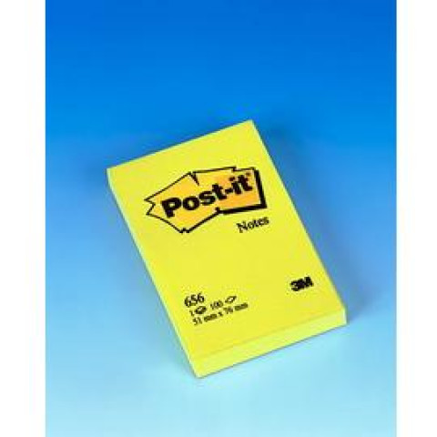 (12) BLOCCO 100fg Post-ita'®Giallo Canary 76x51mm 656