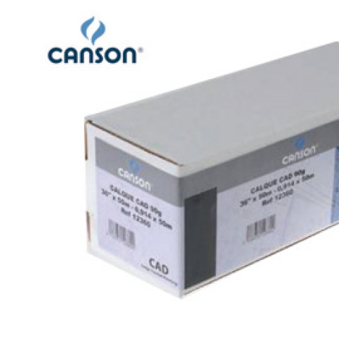 "CARTA PLOTTER 610MM(24"") X 46MT 100GR HIRESOLUTION PAPERJET CANSON"