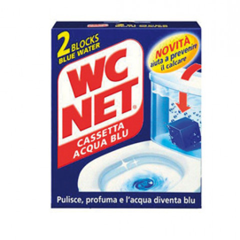 (12) WC NET CASSETTA BLU WATER X 2