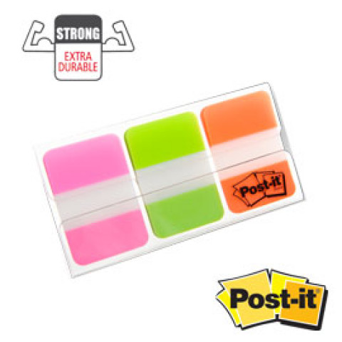 (12) Dispenser 66 POST-IT INDEX STRONG 686-PGOEU 25X38MM COLORI VIVACI