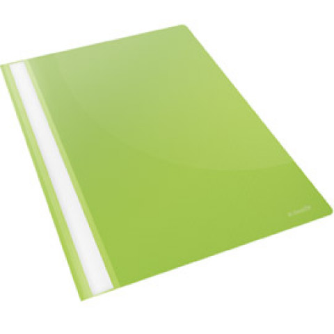 (1500) CARTELLINA PPL CON FERMAFOGLI 21X29,7 VERDE REPORT FILE ESSELTE
