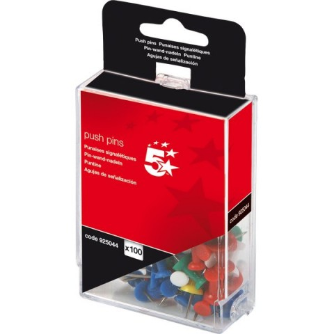 Push pins assortite 5 Star - opaco - 925044 (conf.100)