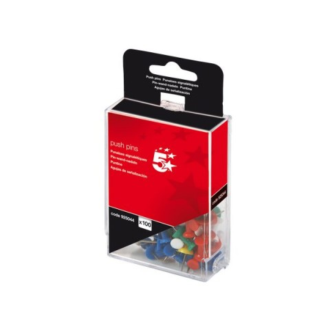 Push pins assortite 5 Star - traslucido - 925052 (conf.100)