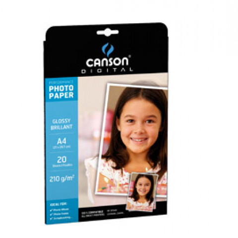 (10) CARTA INKJET A4 210GR 20FG PHOTO GLOSSY PERFORMANCE CANSON