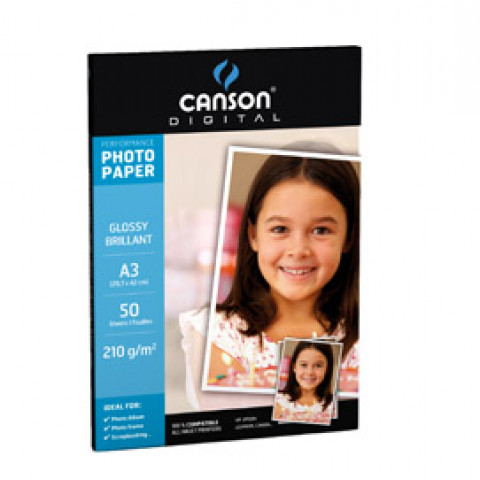 (10) CARTA INKJET A3 210GR 50FG PHOTO GLOSSY PERFORMANCE CANSON