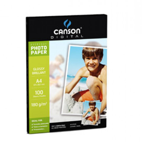 (10) CARTA INKJET A4 180GR 10FG PHOTO GLOSSY EVERYDAY CANSON
