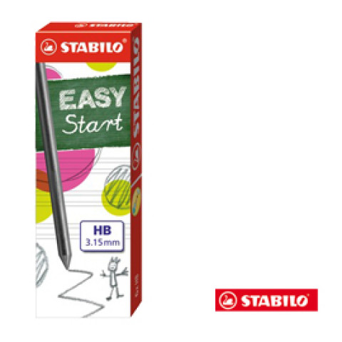 (15) ASTUCCIO DA 6 MINE 3,15MM HB X STABILO'S MOVE EASY ERGO