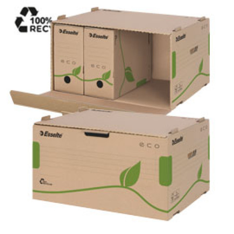(10) Scatola CONTAINER ECOBOX 340x439x259mm apertura laterale ESSELTE