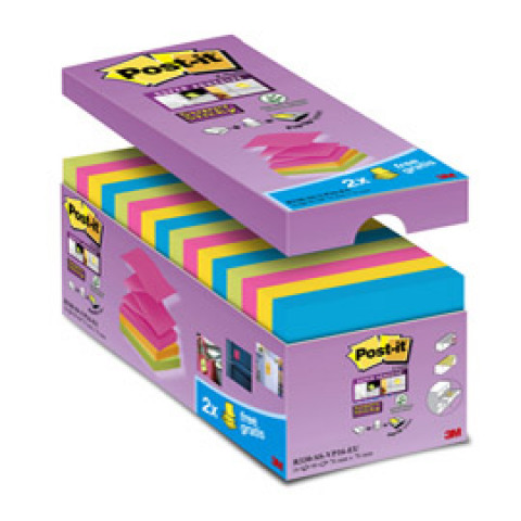 (16) VALUE PACK 16 BLOCCO 90fg Post-ita'® Super Sticky Z-notes 76X76MM R-330-SS-VP16