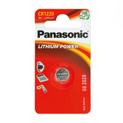 (10) BLISTER Micropila litio CR1220 PANASONIC