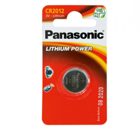 (10) BLISTER Micropila litio CR2012 PANASONIC
