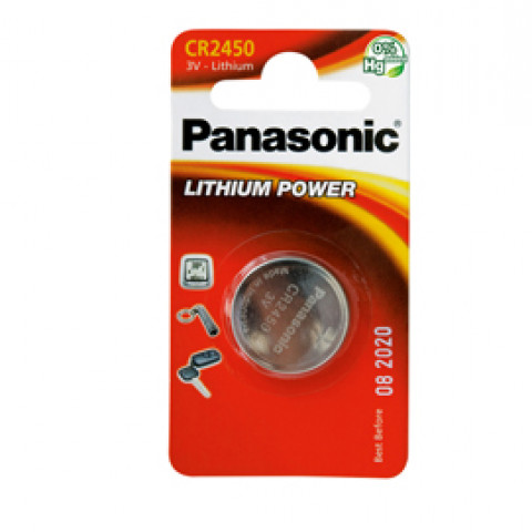 (12) BLISTER Micropila litio CR2450 PANASONIC