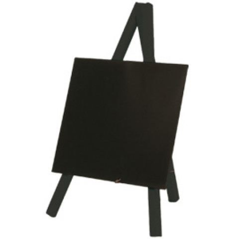 (10) Mini LAVAGNA CON CAVALLETTO NERO 24,4x15cm Securit