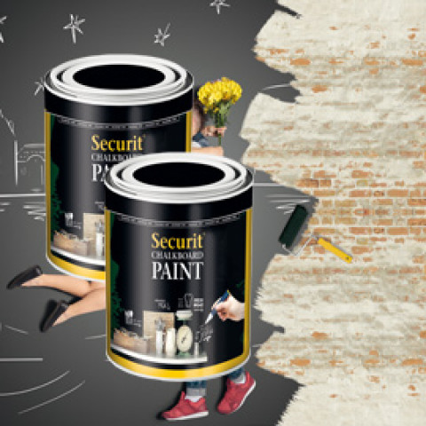 (3) PITTURA LAVAGNA NERO 250ml (5mq) Securit