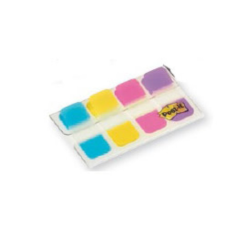 (6) Dispenser 40 SEGNAPAGINA POST-IT INDEX STRONG Mini 676 VIVACI 15,8X38mm