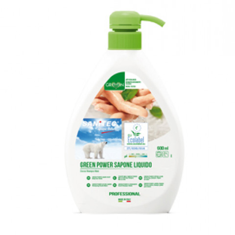 (6) Sapone liquido 600ml Green Power Sanitec