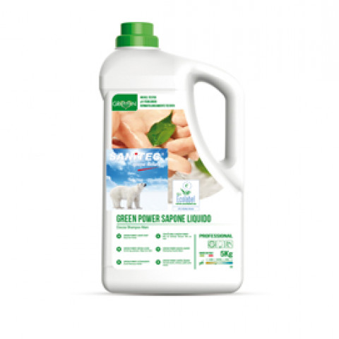 (2) Sapone liquido tanica 5Lt Green Power Sanitec