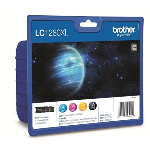 Originale Brother inkjet conf. 4 cartucce A.R. 1280 - n+c+m+g - LC-1280XLVALBP