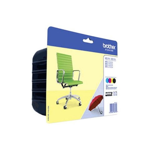 Originale Brother inkjet conf. 4 cartucce LC-229+LC-225 - n+c+m+g - LC-229XLVALBP
