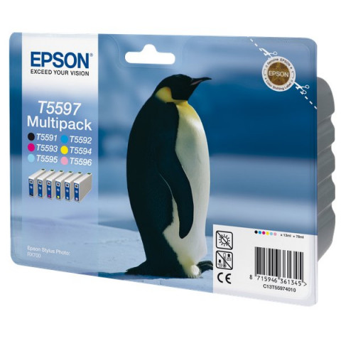 Originale Epson inkjet conf. 6 cartucce rs STYLUS PHOTO T5597 - 6 colori - C13T55974010