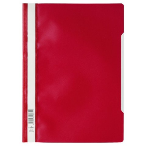Cartellina ad aghi Clear View Durable - A4 PPL - rosso - 2573-03 (conf.50)