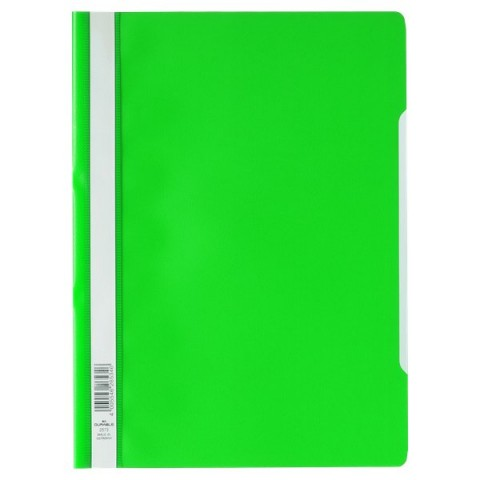 Cartellina ad aghi Clear View Durable - A4 PPL - verde - 2573-05 (conf.50)
