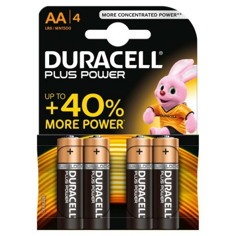 Pile Duracell Plus - stilo - AA - 1,5 V - MN1500B4 (conf.4)