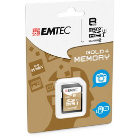 (10) SDHC EMTEC 8GB CLASS 10 GOLD PLUS