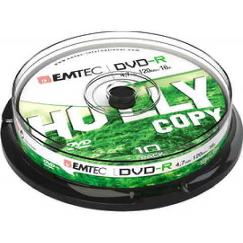 (10) DVD-R EMTEC4,7GB 16X SPINDLE (kit 10zp)