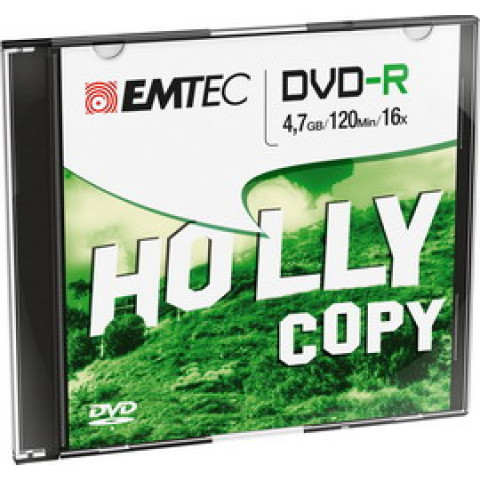 (10) DVD-R EMTEC 4,7GB 16X SLIM CASE (kit 10pz)