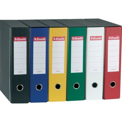 Registratori Eurofile Esselte - Protocollo - dorso 8 - F.to utile 23x33 cm - giallo - 390755090