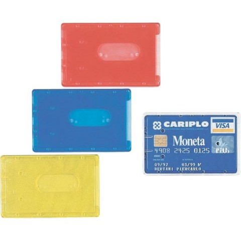 Portacards rigidi Favorit - semi-trasparente assortiti - 8,5x5,4 cm - 100500081 (conf.100)