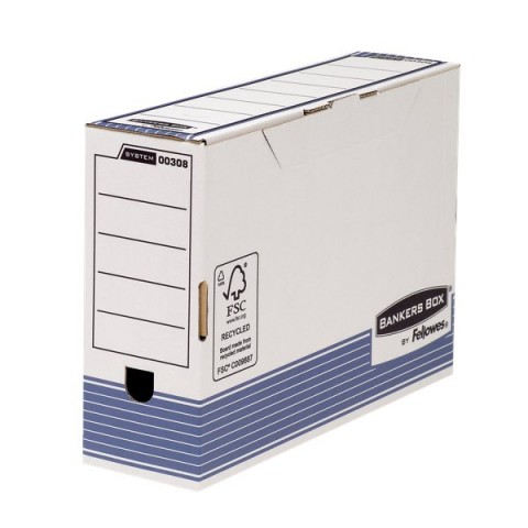 Contenitore Archivio Legal Dorso 10 cm Bankers Box System Fellowes -  36x8x25,5 cm - 0030801 (Conf.10)