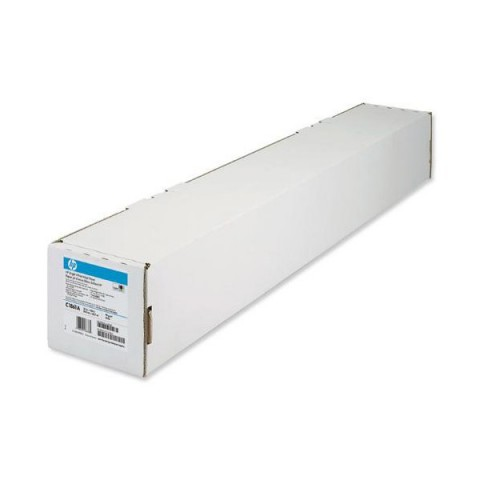 Carta plotter HP - bright white - opaca - 91,4 cm - 91,4 m - 90g - C6810A