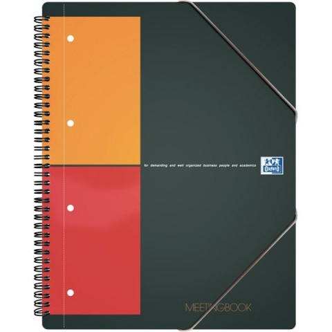 Blocco spiralato MEETINGBOOK INTERNATIONAL Oxford - A4+ - 5 mm - 80 ff - 100100362