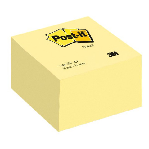 Post-it® Cubo Giallo Canary 636-B - 76x76 mm - giallo canary - 636-B