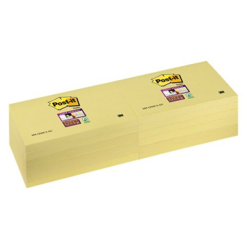 "Post-it® Super Sticky Canary""! - 76x127 mm - giallo canary - 655-12SSCY-EU (conf.12)"