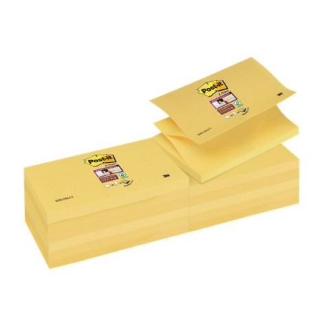 """Ricariche Post-it® Z-Notes Super Sticky Canary""""! - 76x127 mm - giallo canary - R350-12SS-CY (conf.12)"""