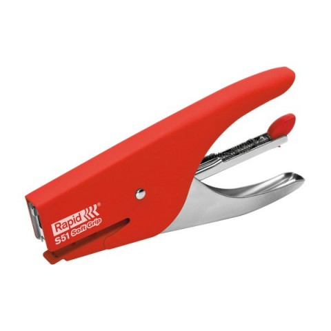 Cucitrice a pinza Supreme S51 Soft Grip Rapid - rosso - 10538747