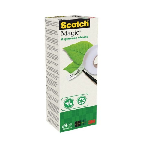 "Nastro adesivo Scotch® Magic""! 900 - 19 mm x 33 m - 900-1933-9 (conf.9)"