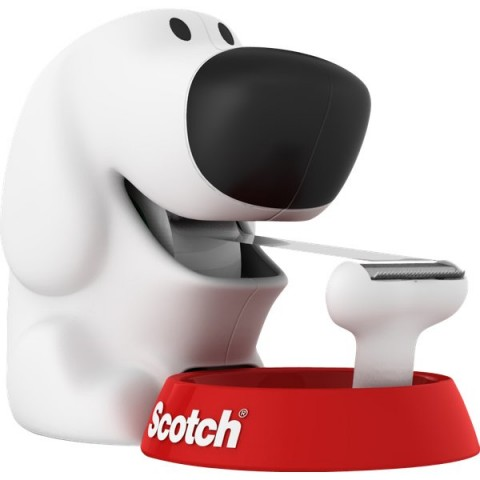 "Dispenser Scotch® Magic""! Emotional Dog - bianco e rosso - Dispenser Dog"
