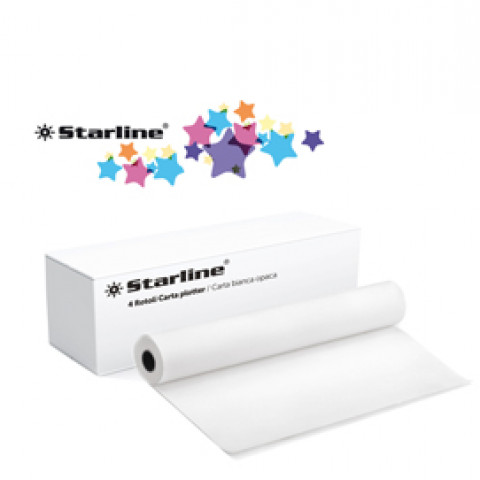 (4) CARTA PLOTTER 914mm x 50m 80GR INKJET Starline